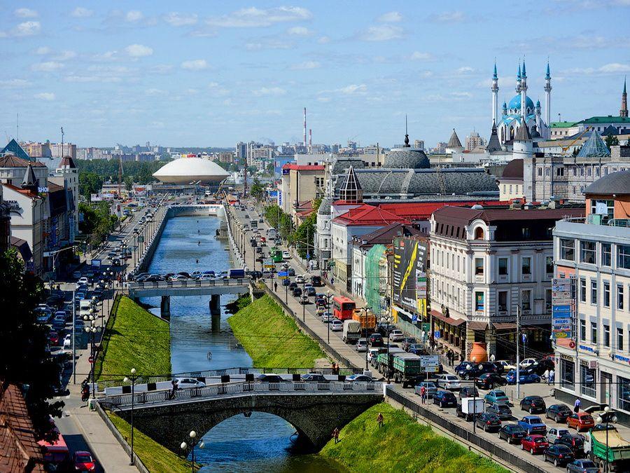 Вид на канал Булак фото Казани