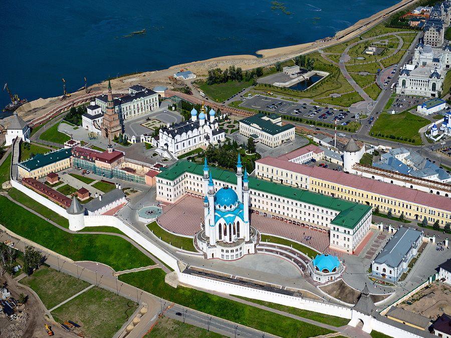 Фото Казанского Кремля вид с высоты