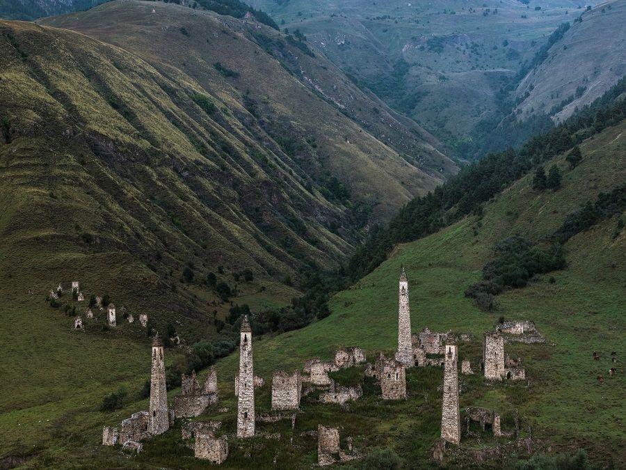 Фотография селения Хамхи в Ингушетии