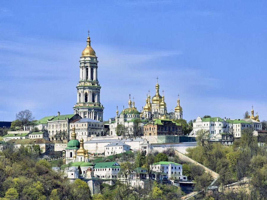 Панорама Киево-Печерской Лавры фотография