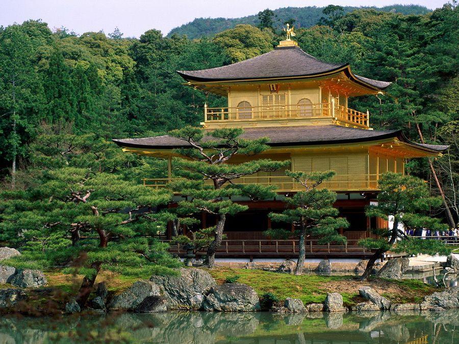 Фото храма Кинкакудзи в Киото