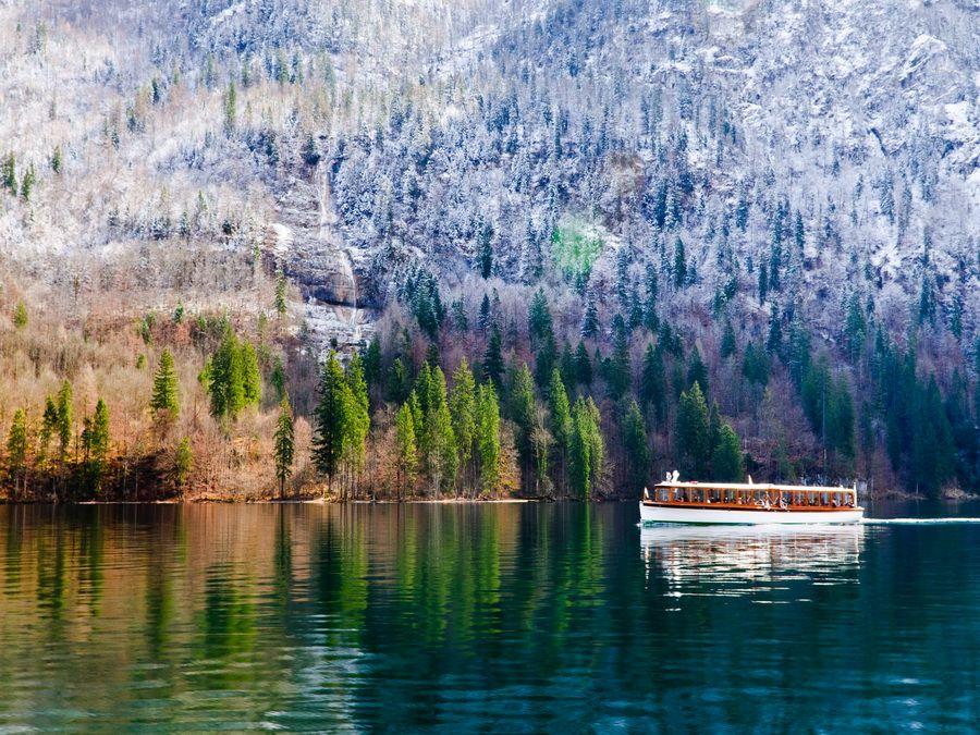 Ландшафт озера Кенигзее фото Баварских Альп