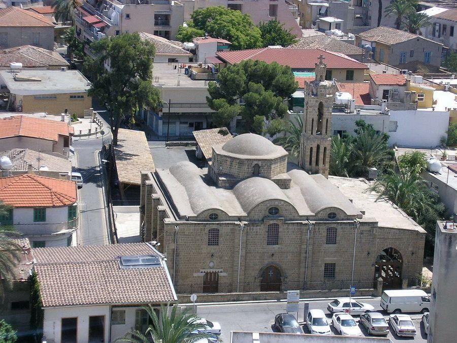 Фото церкви Трипиотис в Никосии на Кипре вид с высоты