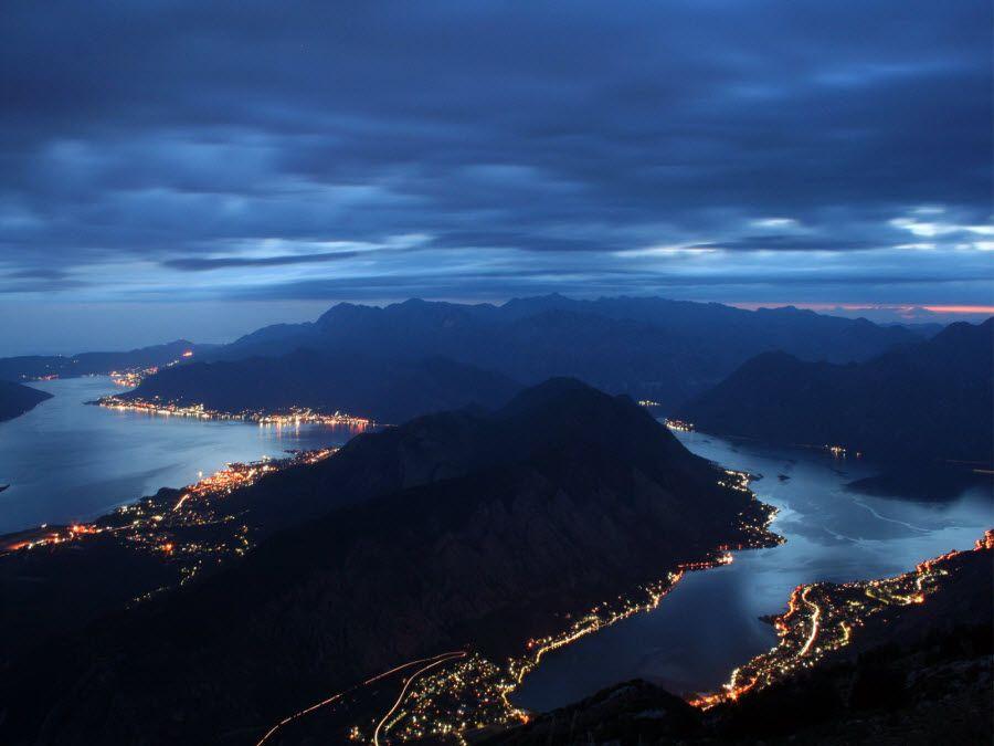 Фото залива Котор в Черногории