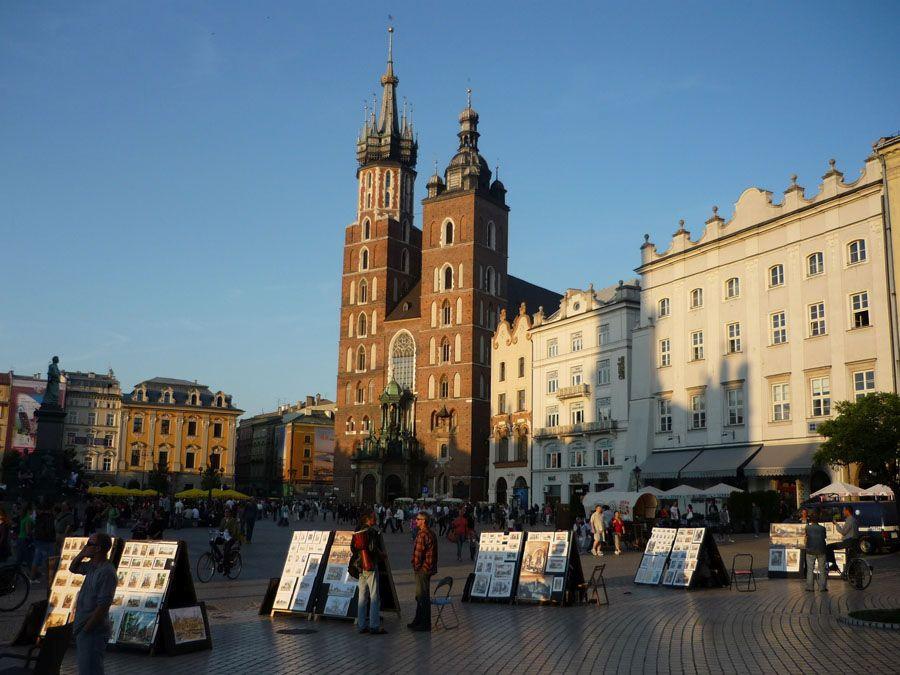 Любимая площадь туристов в Кракове