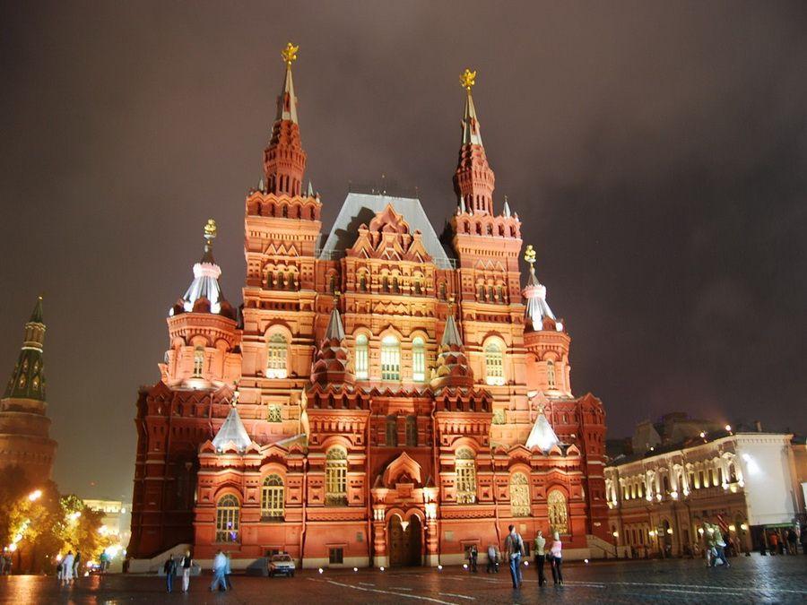 Фото Московского Кремля ночью