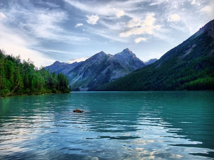 Большое Кучерлинское озеро фотография Алтая