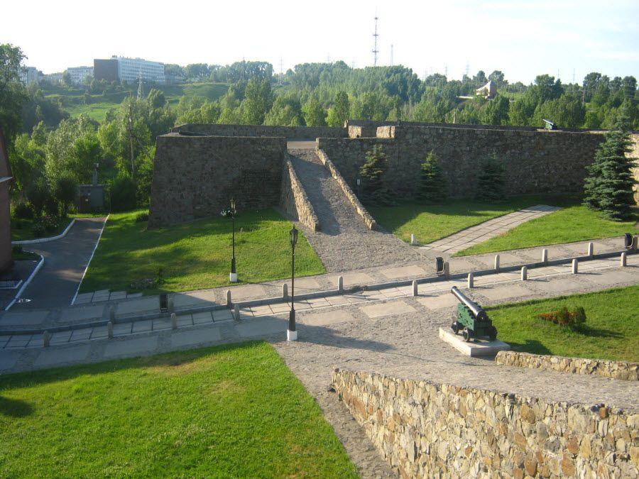 Фото панорама Кузнецкой крепости в Кемеровской области