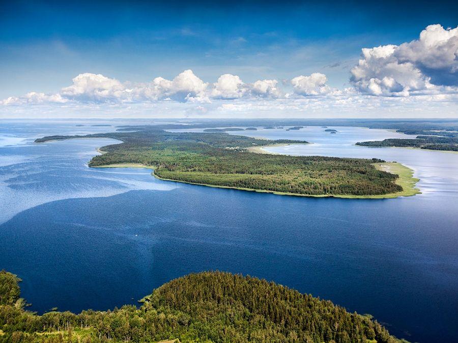 Ладожское озеро вид сверху фото