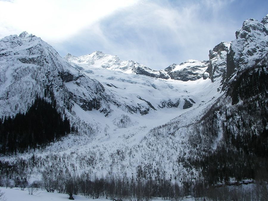 Фотография вида на ледник Джугутурлучат