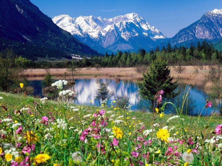 Долина реки Лойзах в Баварии, фото Германии