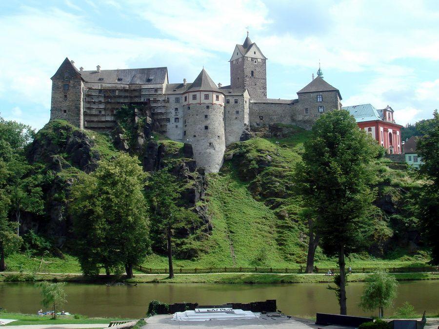 Панорама Замка Локет в Чехии фотография