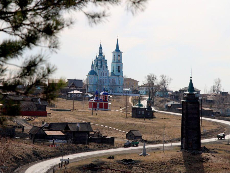 Фото панорама деревни Нижняя синячиха в Свердлоской области