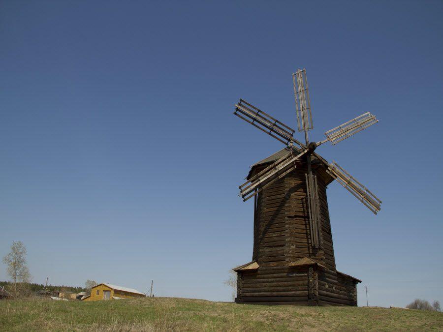 Фото мельница в Нижней Синячихе