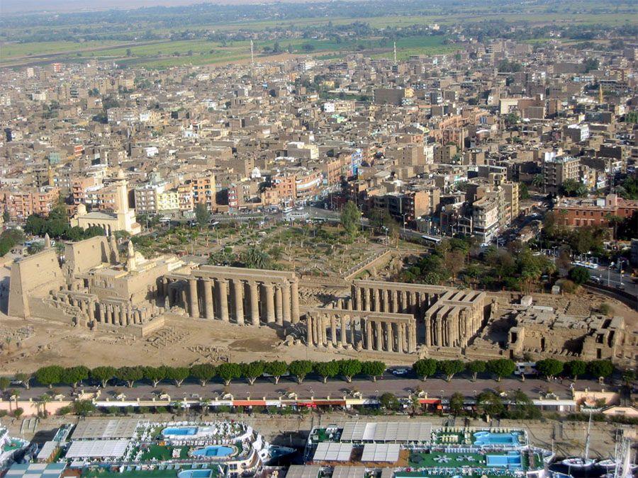 Египетский город Луксор фото