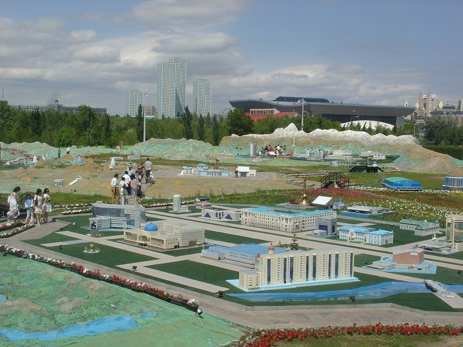 Карта Казахстана Атамекен в Астане фотография