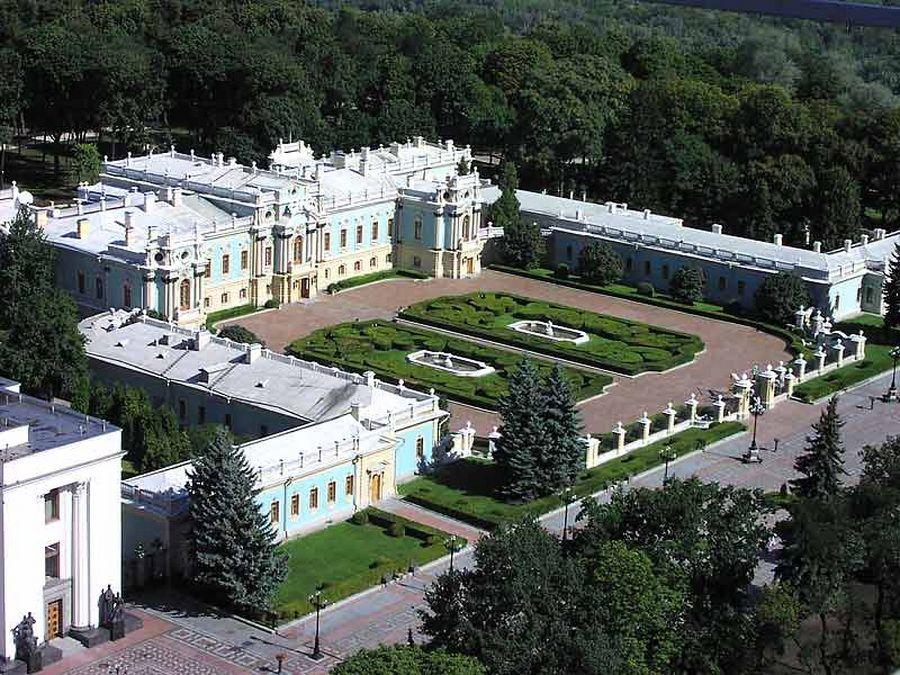 Фотография Мариинского дворца, официальной резиденции Президента Украины