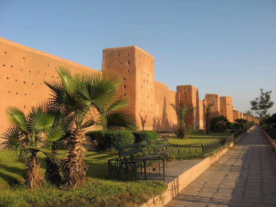 Фото стены города Марракеш