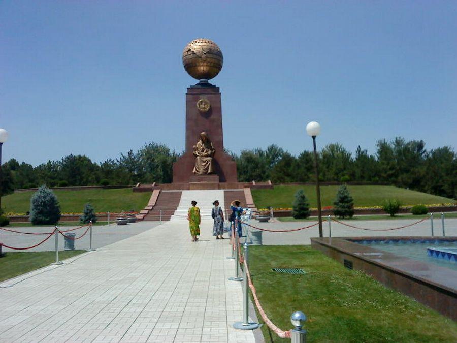 Фотография памятника Независимости в городе Ташкент