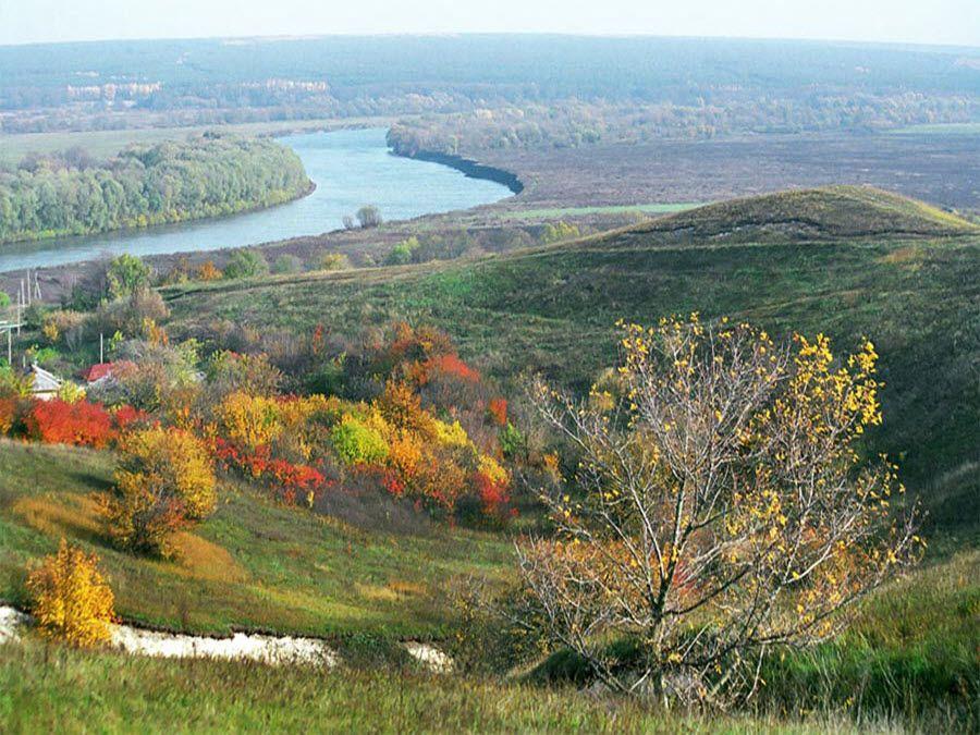 Фото долина Дона, окружающая Костёнки Воронежской области