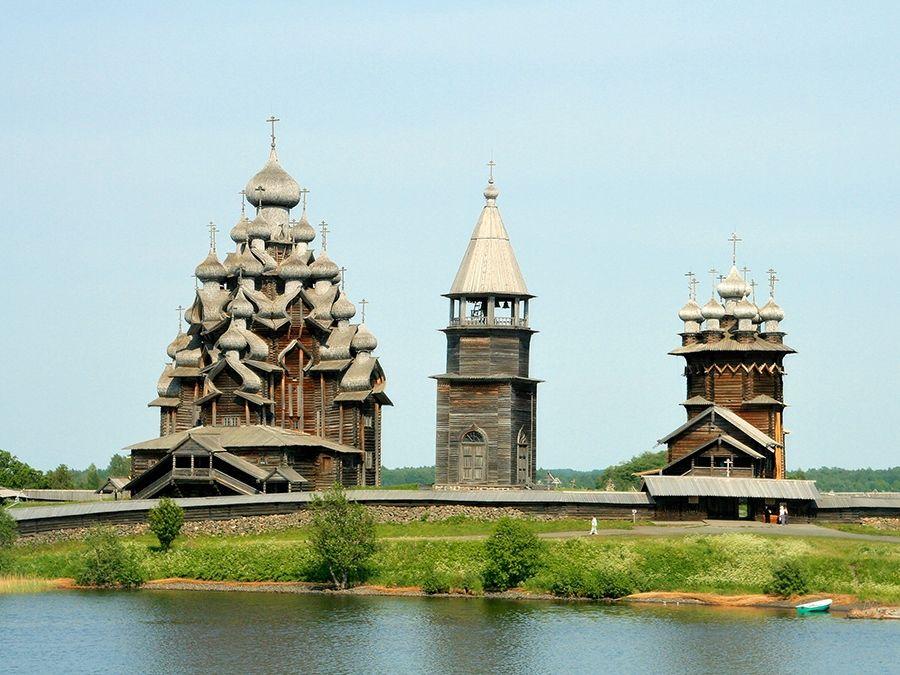Фотография Кижинского погоста в музее-заповеднике