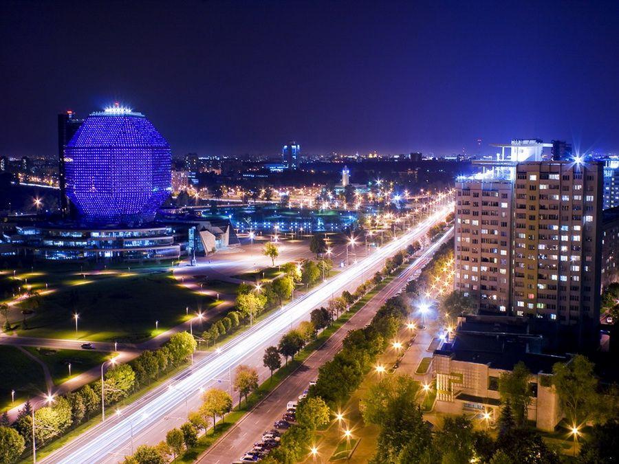 Национальная библиотека Беларуси фото ночного Минска