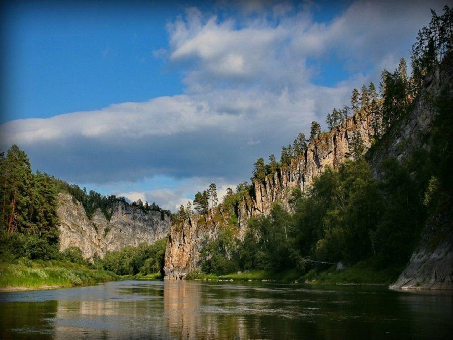 Фотография реки в Национальном парке Башкирия