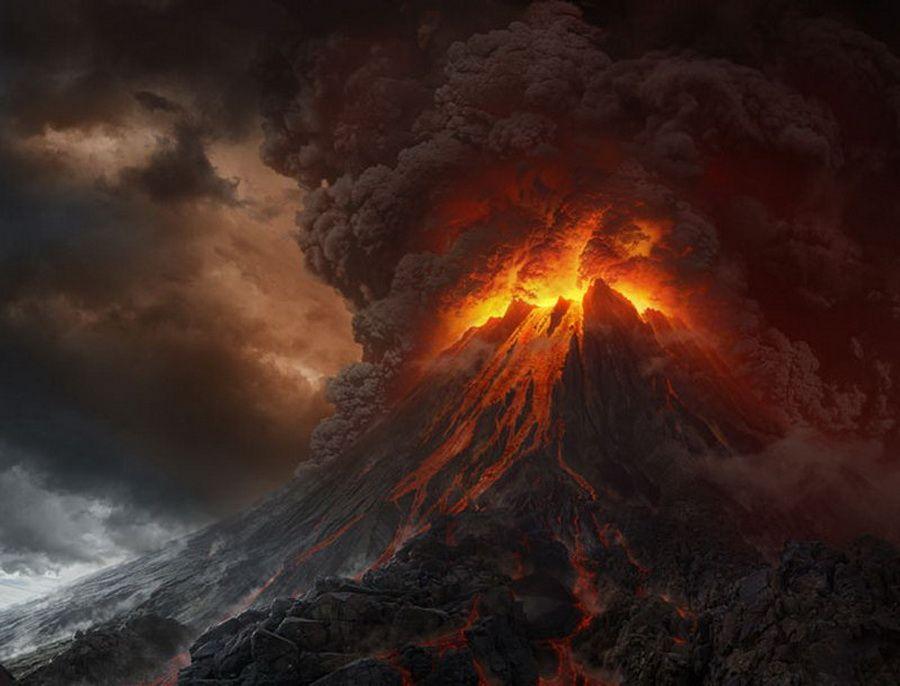 Фото вулкана Нгаурухоэ в роли Огненной горы Ородруин