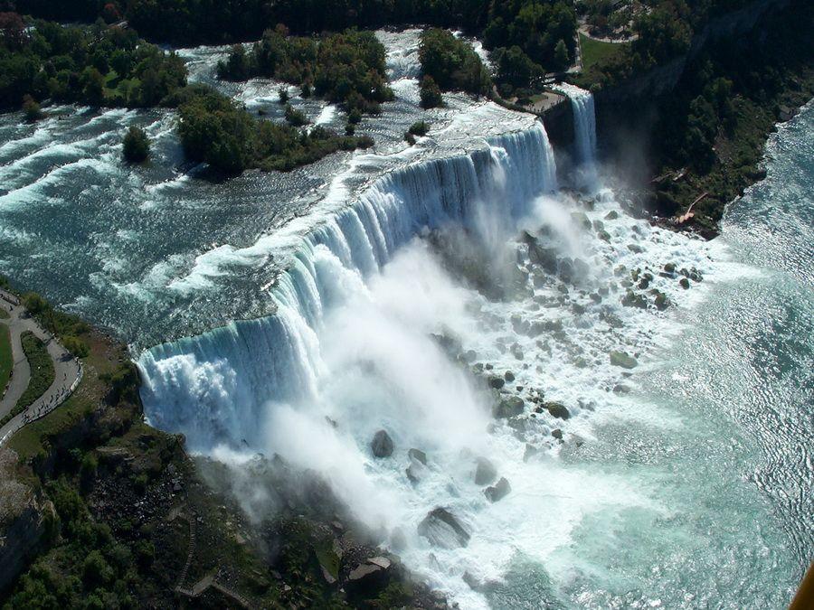 Фото Ниагарского водопада в Америке