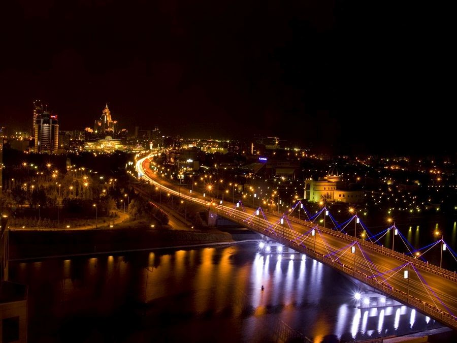 Ночные огни Астаны фото