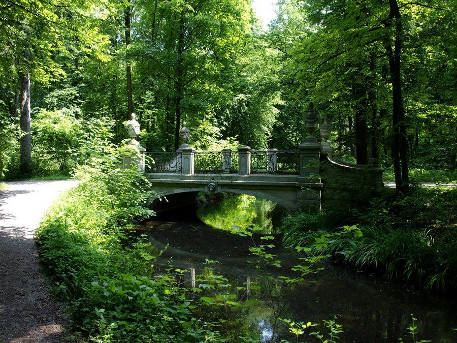 Фотография парка дворца Нимфенбург в Мюнхене