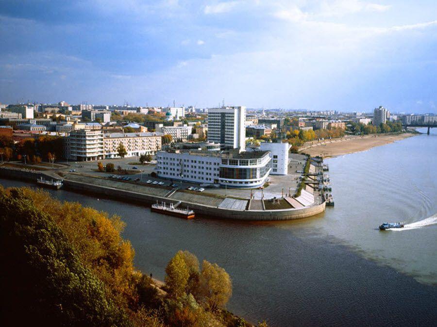Панорама города Омск фото