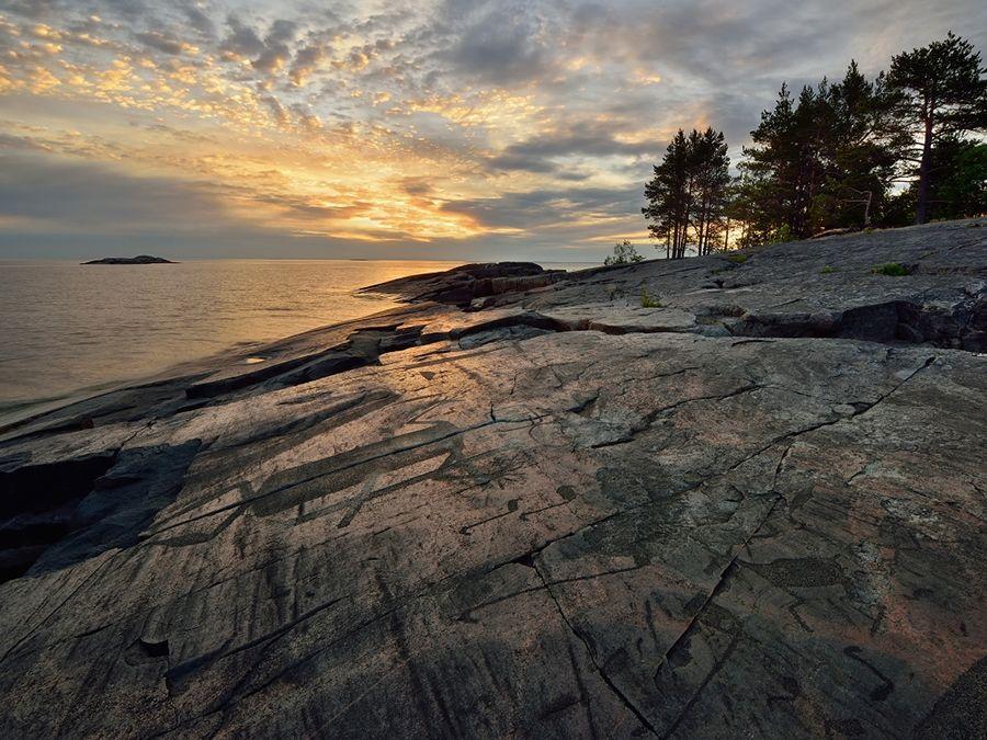 Фотография Онежских петроглифов в Карелии