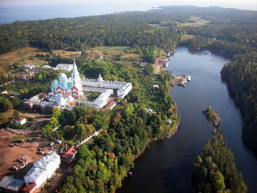 Остров Валаам фотография вида сверху