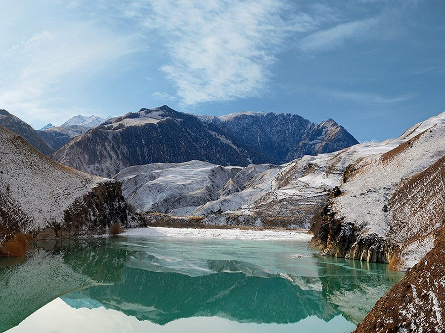 Фотография озера Сылтран-кель зимой