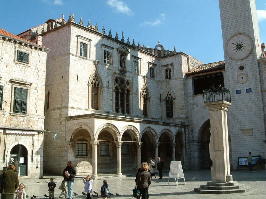 Дворец Спонза в Дубровнике Хорватия фотография