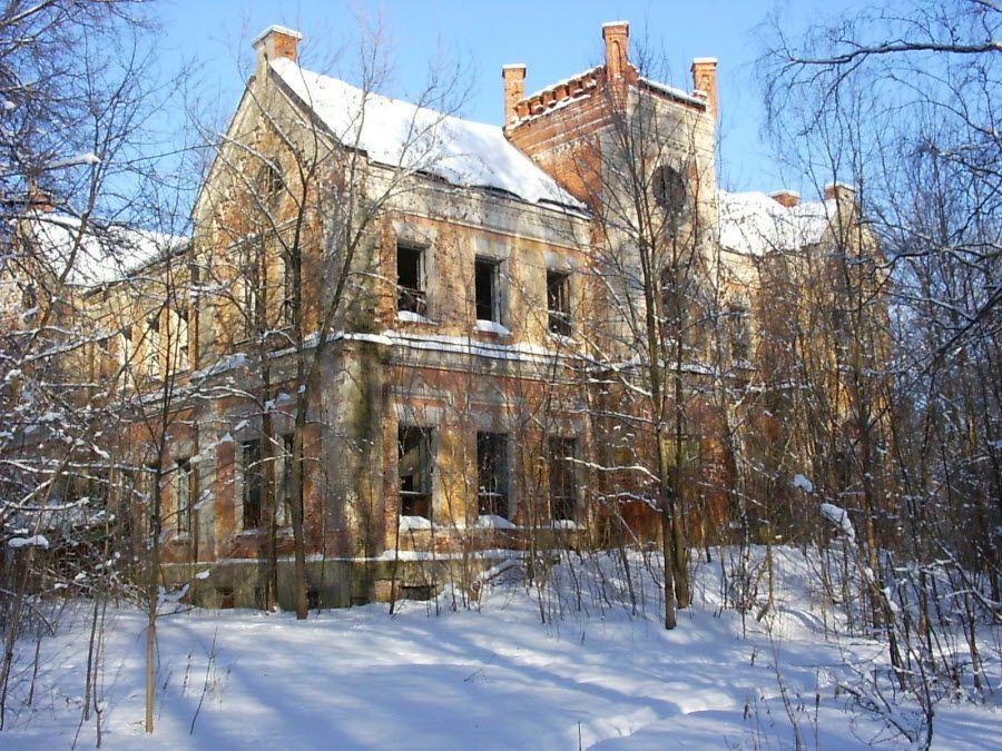 Дворец фон Мекк в поселке Хрусловка Веневского района фото