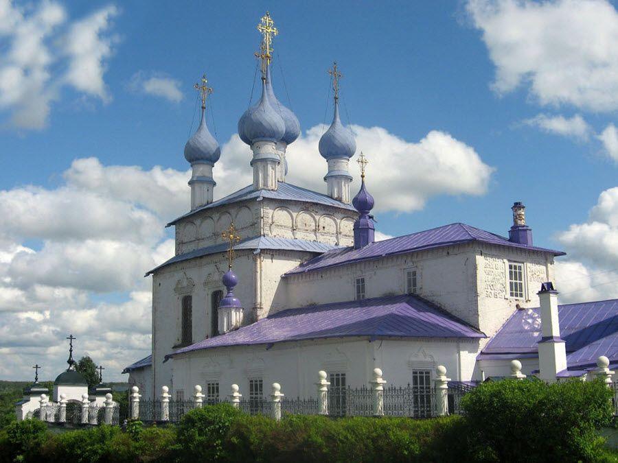 Крестовоздвиженская церковь в городе Палех Ивановской области фото
