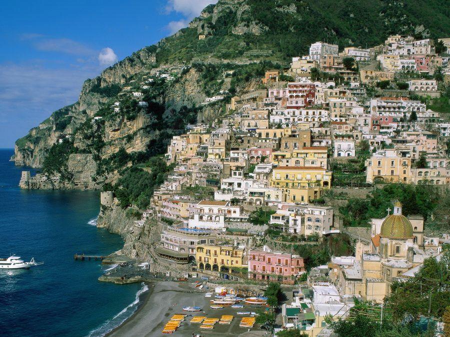 Панорама Палермо на Сицилии фото с моря
