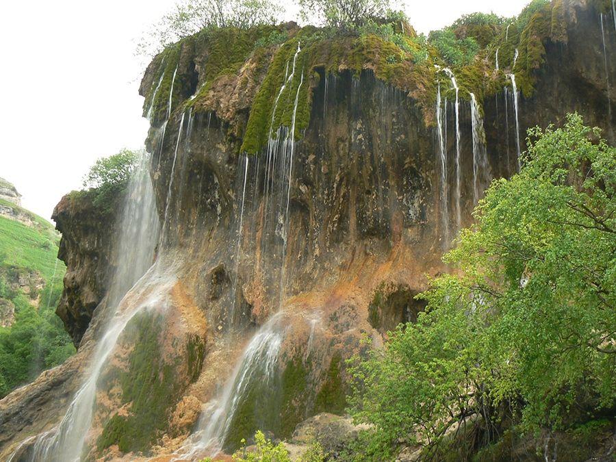Фотография водопада на плато Бермамыт