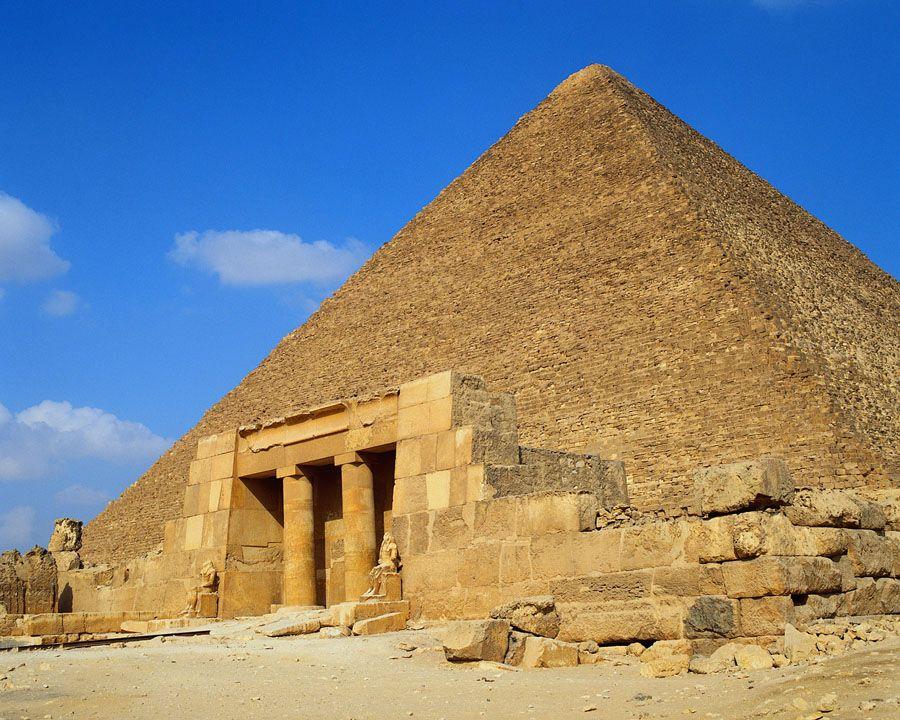 Фотография пирамид в Египте