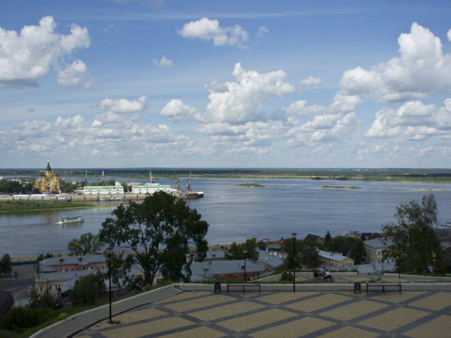 Фото вид на Волгу с Набережной Федоровского
