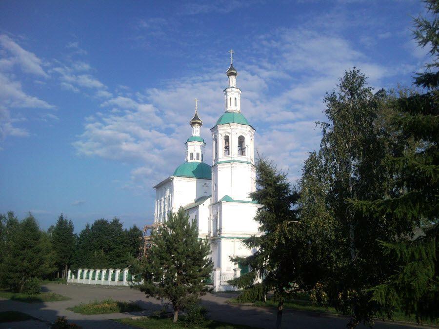 Спасская церковь в селе Тара Омской области фото