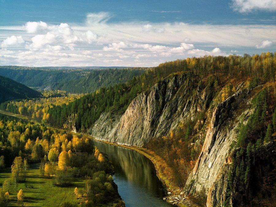 Фотография реки Белой в Башкортостане