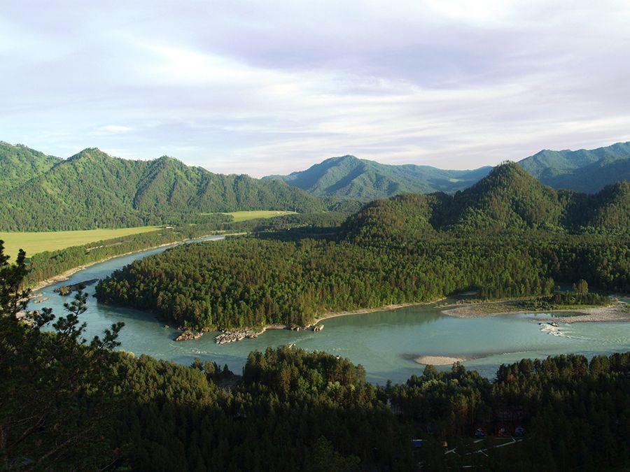 Фото изгиба реки Катунь