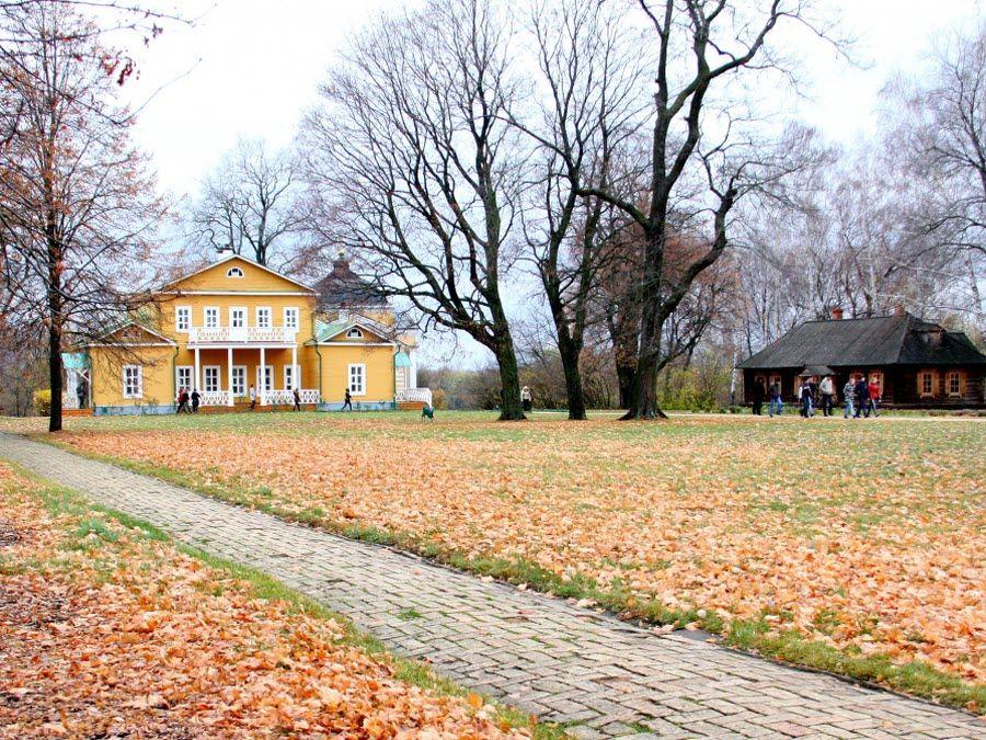 Фото вид осенью на заповедник Тарханы