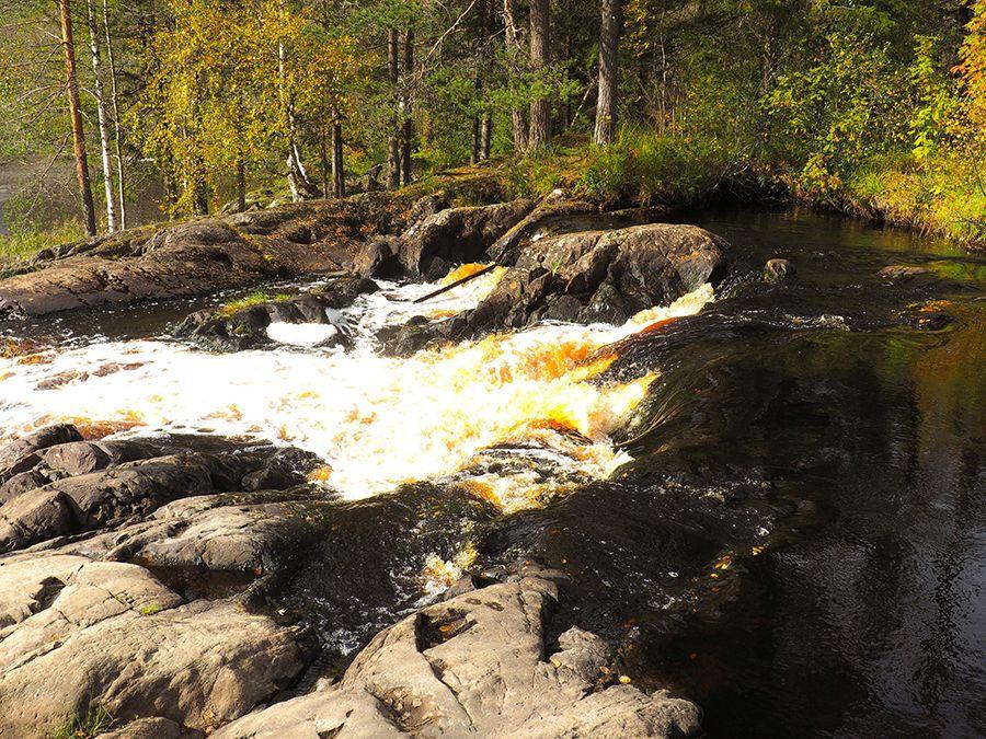 Фотография водопадов Ахвенкоски в Карелии