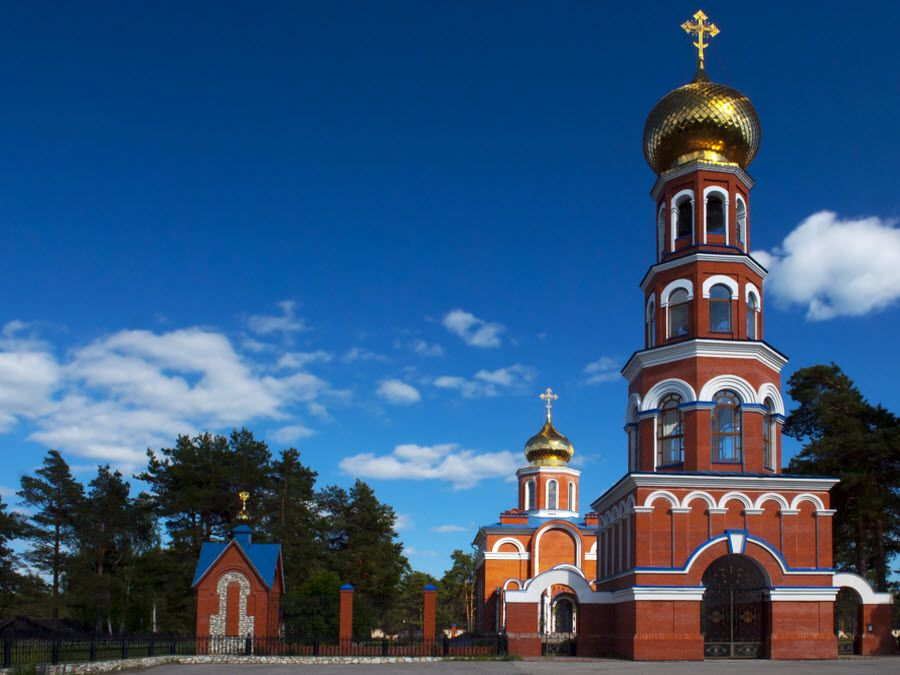 Церковь в Лашме Рязанской области фото