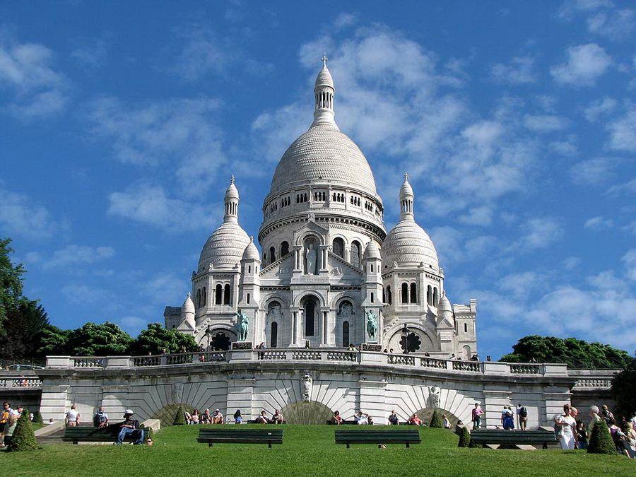 Базилика Сакре-Кёр на Монмартре фото Парижа