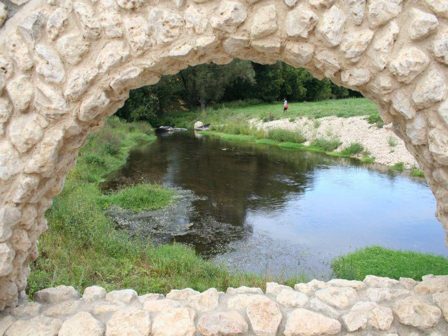 Вид на природу Сафари-парка фото